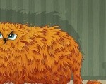 рыжий кот и лоток
