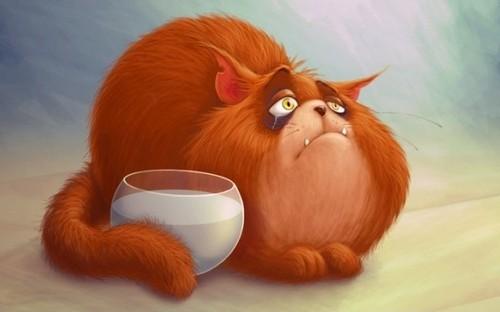 причины ожирения рыжих котов