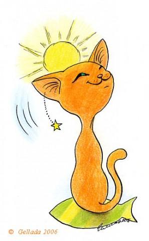 рисунок-рыжего-кота