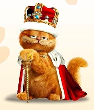 рыжий кот гарфилд