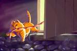 Как понять,  что рыжему коту хорошо дома?
