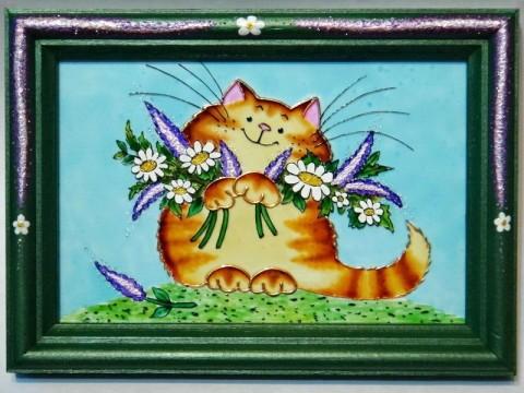 кот-рыжий-на-картине-красивой
