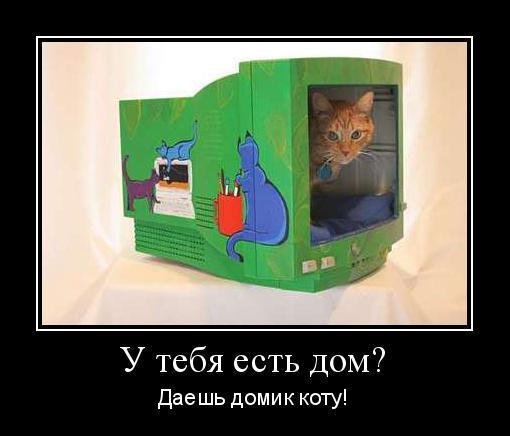 сделай домик для кота