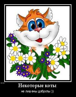 мотиватор-коты-не-лишены-доброты-рыжие
