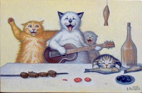коты смешные картинка