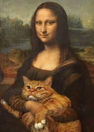кот рыжий на картинке смешной