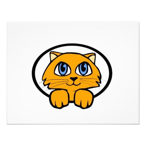 котенок рыжий милый рисунок