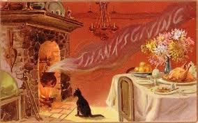 рисунок кошка сидит у камина