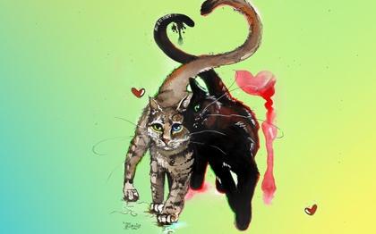 рисунок-кошки-и-кота