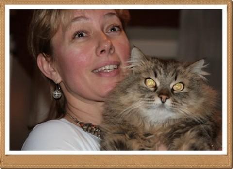 А.Шарапова и кот Вася