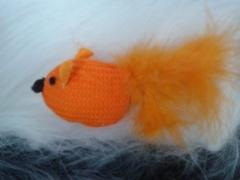 игрушка для кошки оранжевая рыбка